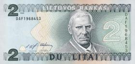 Litauen / Lithuania P.54a 2 Litai 1993 (1)