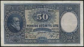 Litauen / Lithuania P.24 50 Litu 1928 (3)
