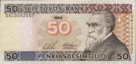 Litauen / Lithuania P.58 50 Litu 1993 (1)