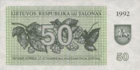 Litauen / Lithuania P.41 50 (Talonas) 1992 (1)