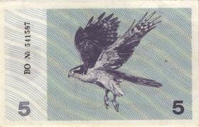 Litauen / Lithuania P.34b 5 (Talonas) 1991 (2)