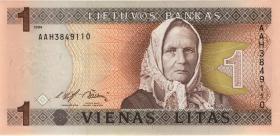 Litauen / Lithuania P.53a 1 Litas 1994 (1)