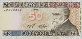 Litauen / Lithuania P.58 50 Litu 1993 (1) high number