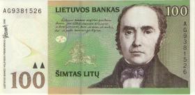 Litauen / Lithuania P.62 100 Litu 2000 Serie AG (1)
