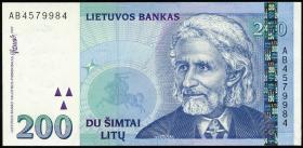 Litauen / Lithuania P.63 200 Litu 1997 (1) Serie AB