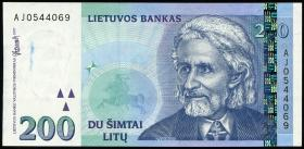 Litauen / Lithuania P.63 200 Litu 1997 (1) Serie AJ