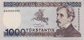 Litauen / Lithuania P.52 1000 Litu 1991 (1)