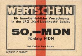 """LPG Leislau """"Karl Liebknecht"""" 50 MDN (1)"""
