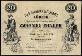 Lübeck 20 Taler 1865 (1)