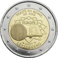 Luxemburg 2 Euro 2007 Römische Verträge