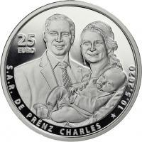 Luxemburg 25 Euro 2020 Geburt Prinz Charles PP