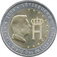 Luxemburg 2 Euro 2004 Monogramm, prfr