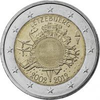 Luxemburg 2 Euro 2012 Euro-Bargeld