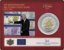 Luxemburg 2 Euro 2012 Euro-Bargeld in Coincard