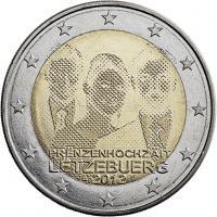Luxemburg 2 Euro 2012 Prinzenhochzeit