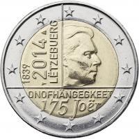 Luxemburg 2 Euro 2014 175 Jahre Unabhängigkeit