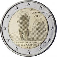 Luxemburg 2 Euro 2015 15 Jahre Thronbesteigung Henri