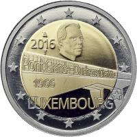 Luxemburg 2 Euro 2016 50 Jahre Großherzogin-Charlotte-Brücke PP