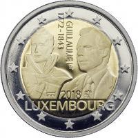 Luxemburg 2 Euro 2018 Guillaume I. PP - Mzz. Löwe & Brücke