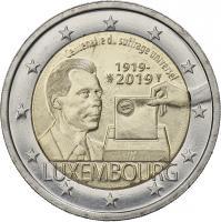 Luxemburg 2 Euro 2019 100 Jahre Allgemeines Wahlrecht