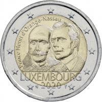 Luxemburg 2 Euro 2020 200. Geburtstag Prinz Henri von Oranien-Nassau