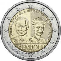 Luxemburg 2 Euro 2019 100. Jahrestag der Thronbesteigung Großherzogin Charlotte