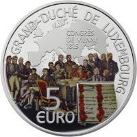 Luxemburg 5 Euro 2015 Wiener Kongress