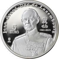 Luxemburg 5 Euro 2019 Jean Großherzog von Luxemburg 1921-2019