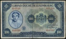Luxemburg / Luxembourg P.47 100 Francs (1944) (3)