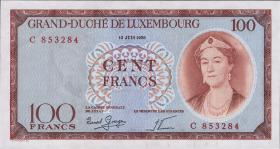 Luxemburg / Luxembourg P.50 100 Francs 1956 (1)