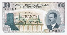 Luxemburg / Luxembourg P.14 100 Francs 1968 (1)