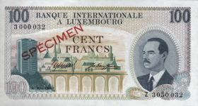 Luxemburg / Luxembourg P.14s1 100 Francs 1968 Specimen (1)