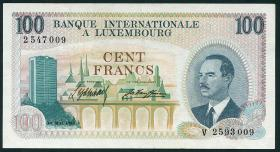 Luxemburg / Luxembourg P.14 100 Francs 1968 (3+)