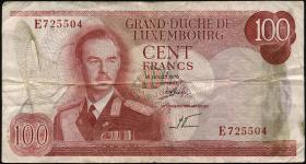 Luxemburg / Luxembourg P.56a 100 Francs 1970 (2)