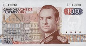 Luxemburg / Luxembourg P.57a2 100 Francs 1980 (1)