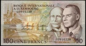 Luxemburg / Luxembourg P.14A 100 Francs 1981 (2)