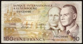 Luxemburg / Luxembourg P.14A 100 Francs 1981 (3)