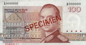 Luxemburg / Luxembourg P.58as 100 Francs 1986 A Specimen (1)