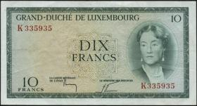 Luxemburg / Luxembourg P.48 10 Francs (1955) (3)