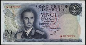 Luxemburg / Luxembourg P.54 20 Francs 1966 (2/1)