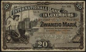 Luxemburg / Luxembourg P.04 20 Mark 1900 (3-)