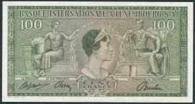 Luxemburg / Luxembourg P.13 100 Francs 1956 (2)