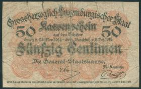 Luxemburg / Luxembourg P.26 50 Centimes 1918 (5)