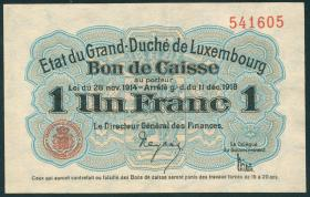 Luxemburg / Luxembourg P.27 1 Franc 1918 (2)