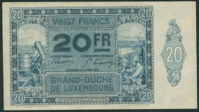 Luxemburg / Luxembourg P.37 20 Francs 1929 (3+)