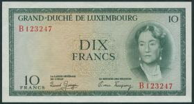 Luxemburg / Luxembourg P.48 10 Francs (1955) (2)