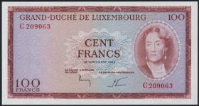 Luxemburg / Luxembourg P.52 100 Francs 1963 (1-)