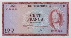 Luxemburg / Luxembourg P.52 100 Francs 1963 (1)