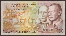 Luxemburg / Luxembourg P.14As 100 Francs 1981 Specimen (1)