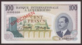 Luxemburg / Luxembourg P.14s2 100 Francs 1968 Specimen 0000000 (1)